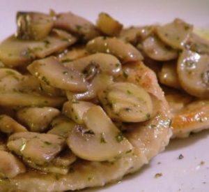 scaloppine con funghi