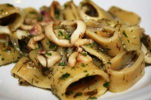 calamarata zucchine e zafferano