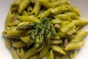 penne asparagi e pancetta