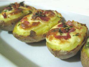 patate ripiene con panna