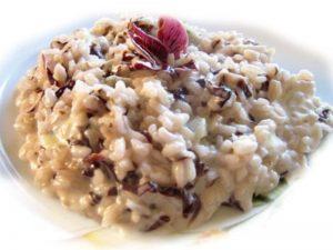 risotto con radicchio gorgonzola