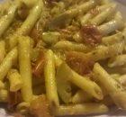 penne rigate peperoni melanzan e zucchine