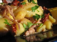 conchiglioni con totano patate e pomodori secchi