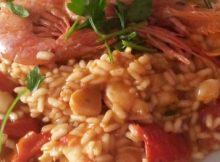 risotto gamberi e cozze