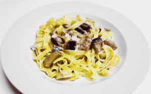 Fettuccine con Gorgonzola e Melanzane