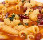 minestra di fagioli borlotti
