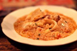 risotto con calamari