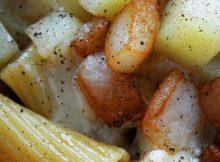 rigatoni con taleggio e patate