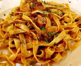 fettuccine con pancetta